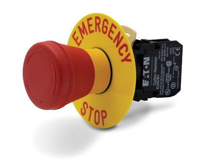 Pushbutton emergency stop