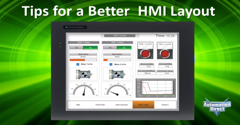 Tips For A Better Hmi Layout Library Automationdirect Com
