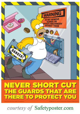 Homer machine safety poster