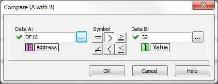 Compare contact instruction dialog box