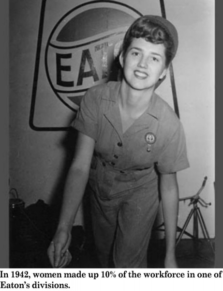 Eaton 1942 women in the workforce