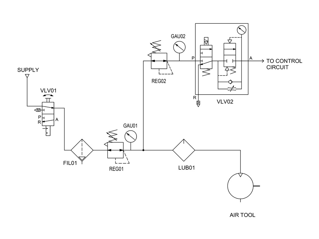 Combining Components in Pneumatic Systems Designs