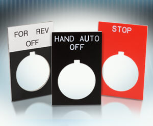 AutomationDirect adds Ease-of-Use 22mm Pushbutton Legend Plates