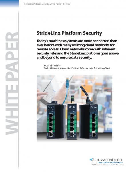 StrideLinx Platform Security |White Paper