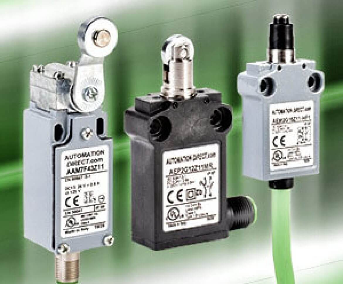 Compact Thermoplastic and Halogen-Free Limit Switches from AutomationDirect